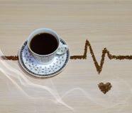 Natura morta con la tazza di caffè della porcellana di а Fotografia Stock
