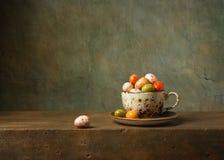 Natura morta con le uova di Pasqua Fotografie Stock