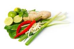 Natura morta degli ingredienti e dei condimenti asiatici fotografia stock