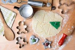 Natura morta dei biscotti di festa di cottura Fotografia Stock