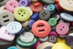 Natura morta dei bottoni Colourful Immagini Stock