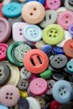 Natura morta dei bottoni variopinti Fotografia Stock Libera da Diritti