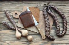 Natura morta dei prodotti di legno Fotografie Stock