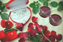 Natura morta dei vetri di vino Fotografia Stock Libera da Diritti