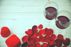 Natura morta dei vetri di vino Immagine Stock