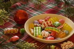 Natura morta della caramella di Natale Fotografia Stock