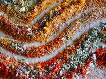 Natura morta della cucina con le linee della spezia Fotografia Stock