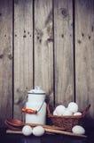 Natura morta della cucina del paese Fotografia Stock