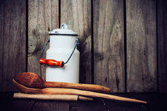 Natura morta della cucina del paese Fotografie Stock Libere da Diritti
