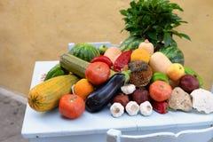 Natura morta della verdura delle vitamine fotografia stock libera da diritti