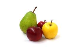 Natura morta delle mele e delle pere Fotografia Stock Libera da Diritti