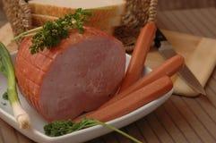 Natura morta delle salsiccie Immagini Stock