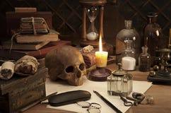 Natura morta di alchemia Fotografie Stock Libere da Diritti
