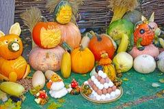 Natura morta di autunno con il raccolto Fotografie Stock Libere da Diritti