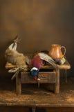 Natura morta di caccia di autunno Immagini Stock Libere da Diritti
