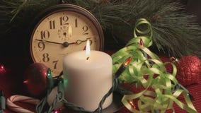 Natura morta di festa di Buon Natale stock footage