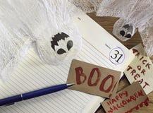 Natura morta di Halloween nell'ufficio 2 Immagini Stock