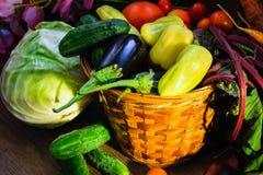 Natura morta di verdure del raccolto immagine stock