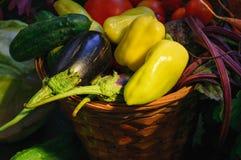 Natura morta di verdure del raccolto fotografia stock