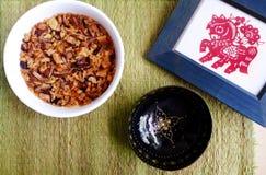 Natura morta festiva asiatica del piatto Fotografia Stock