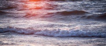 Natura Morze i zmierzch naturalne tekstury grafiki projektu fale morskie Obrazy Stock