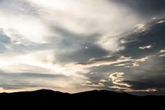 Natura nella sera Buio dell'immagine Fotografia Stock Libera da Diritti