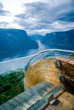 Natura Norvegia dell'allerta di Stegastein bella Immagini Stock