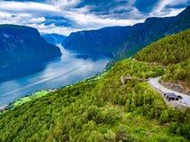 Natura Norvegia dell'allerta di Stegastein bella Immagini Stock Libere da Diritti