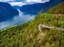 Natura Norvegia dell'allerta di Stegastein bella Fotografia Stock Libera da Diritti