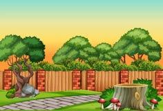 Natura ogródu scena ilustracja wektor