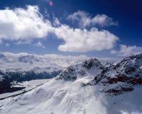 Natura, paesaggio e montagne stupefacenti nelle alpi Svizzera Fotografia Stock