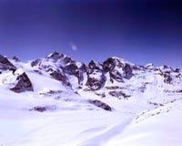 Natura, paesaggio e montagne stupefacenti nelle alpi Svizzera Immagini Stock