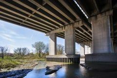 Natura pod mostem Zdjęcia Stock