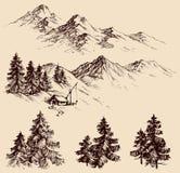 Natura projekta elementy ilustracji