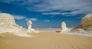 Natura rzeźbi w biel pustyni, Sahara, Egipt Fotografia Stock
