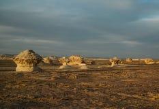 Natura rzeźbi w biel pustyni, Sahara, Egipt Obraz Royalty Free