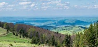 Natura Ukraińskie góry Szeroka panorama fotografia stock