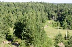 Natura wioska od wysokości Zdjęcia Stock