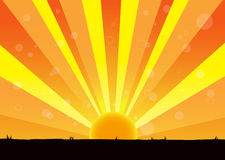 Natura wschód słońca royalty ilustracja