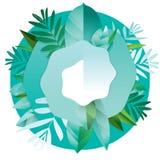 Natura wystroju spirali round rama dla projekta Zdjęcie Stock