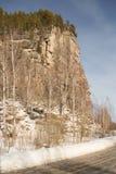 Natura zabytek Altai republika Zewnętrznie skała przypomina Kościelnego iconostasis, jest sławnym opłatą głownie barelief obraz royalty free