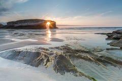 Natura zostać piękną na plaży katedry Zdjęcia Stock