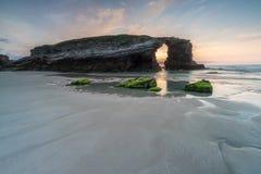 Natura zostać piękną na plaży katedry Fotografia Royalty Free