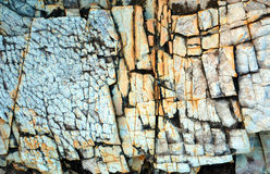 Natural abstract patterns and textures in fractured rock Stock Image