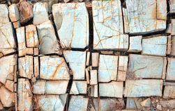 Natural abstract patterns and textures in fractured rock Stock Images