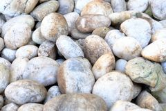 Natural abstract smooth round pebbles sea texture background royalty free stock image