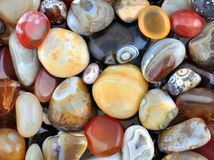 Natural Agate. Various types and color Stock Photography