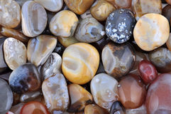 Natural Agate. Various types and color Stock Photos