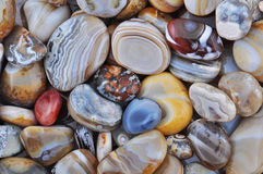 Natural Agate. Various types and color Stock Photo