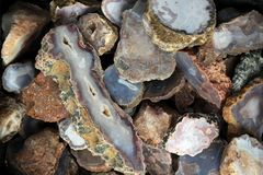 Natural agates Royalty Free Stock Photography